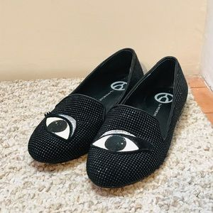 THE WISHBONE COLLECTION Evil eye loafers 6.5